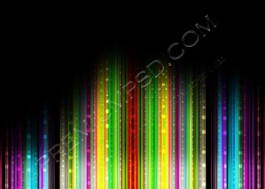 Vector illustration of Color Abstract Background With Blurred Magic Neon Light Lines – PSD Download