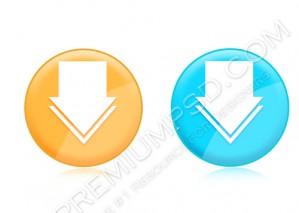 High Resolution Down Sign Design, PSD Download