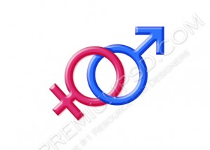 High Resolution Male Female Signs Design, PSD Download