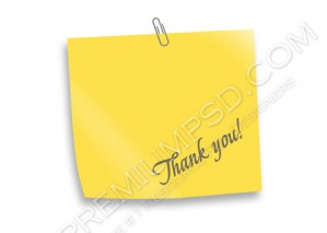 High Resolution Thank you Sign Design, PSD Download