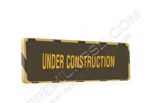 High Resolution Under Construction Sign Design, PSD Download