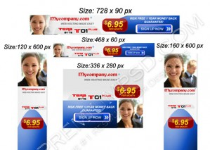 High Resolution Hosting Advertisement banner Design, PSD Download