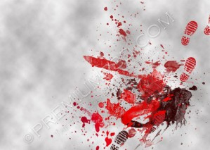 High Resolution Blood Splatters Wallpaper Design, PSD Download
