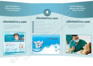 High Resolution Dentist Tri Fold Brochure Design, PSD Download