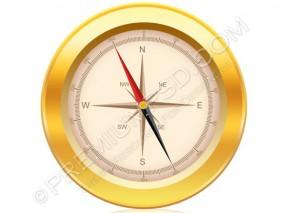 High Resolution Golden Compass Design – PSD Download