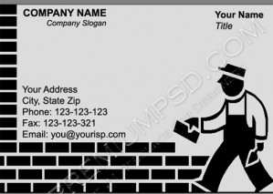 High Resolution Contractor Visiting Card Design, PSD Download