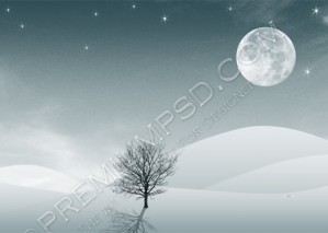 High Resolution Wind in Desert in Moon Light Wallpaper Design, PSD Download