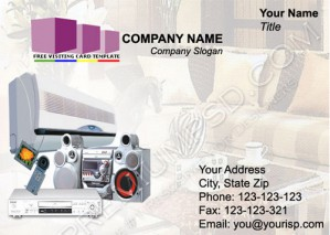High Resolution Electric Goods Visiting card Design, PSD Download