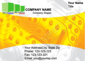 High Resolution Electronic Visiting Card Design, PSD Download