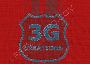 High Resolution Fabric Badge Design, PSD Download