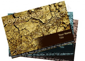 High Resolution Grunge Design Visiting Card, PSD Download