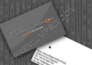 High Resolution Gray Classic Visiting Card Design, PSD Download