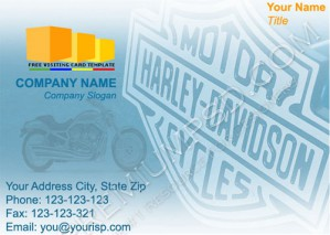 High Resolution Motor Cycle Visiting Card Design, PSD Download