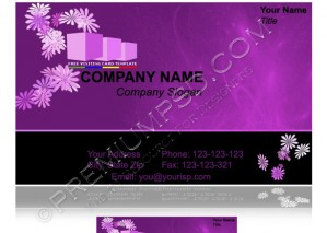 High Resolution Purple Visiting Card Design, PSD Download