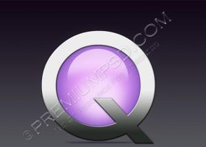 High Resolution Quick Time Logo Design, PSD Download