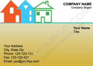 High Resolution Real Estate Visiting Card Design, PSD Download