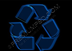 High Resolution Recycle Neon Sign, PSD Download