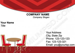 High Resolution Cafe Visiting Card Design, PSD Download