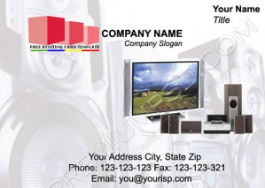 High Resolution Television Visiting Card Design, PSD Download