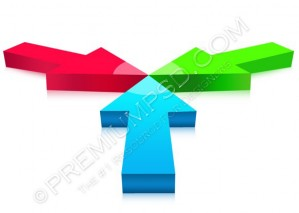 3D Arrows Design – High Resolution – PSD Download