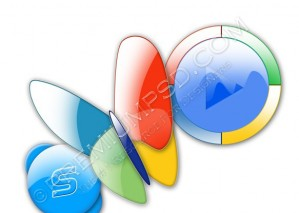 3 Crystal Icons Design – High Resolution – PSD Download