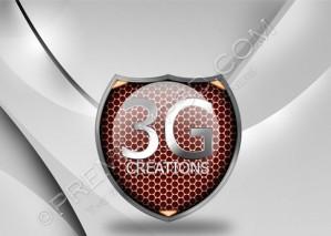 Metallic Badge Logo Design – High Resolution – PSD Download