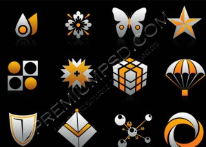 Orange and Grey Color Icons – High Resolution – PSD Download
