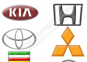 High Resolution 6 Cars Logos Design, PSD Download