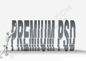 Displaced Text Design – High Resolution – PSD Download