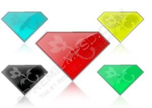 5 Colors Gem Logo Design – High Resolution – PSD Download