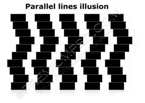 Parallel Lines illusion Design – High Resolution – PSD Download