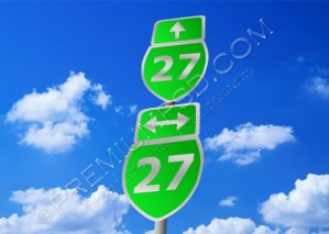 Highway Road Sign Design – High Resolution – PSD Download