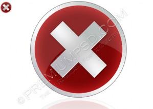High Resolution Vista Error Icon Design – PSD Download