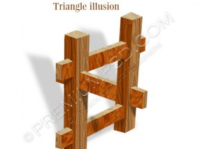 Wood Block illusion – High Resolution – PSD Download