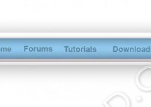 New Cool Web Menu – PSD Download