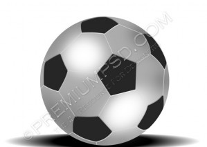 Black and White FootBall Design –  High Resolution – PSD Download