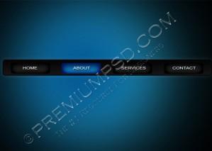 Simple Blue and Black Navigation Bar – High Resolution – PSD Download