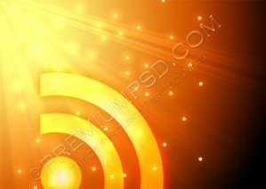 New Glossy Rss Feed Logo Wallpaper– High Resolution – PSD Download