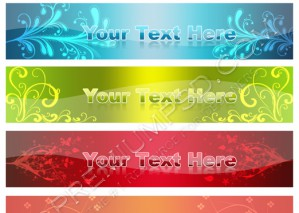 Floral Glossy Web Banners Design – High Resolution – PSD Download