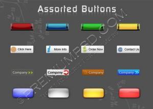 Rectangular Assorted Buttons Design – PSD Download