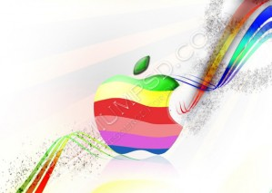 Colorful Apple Logo Wallpaper Design – High Resolution – PSD Download