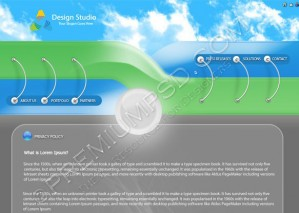 Design Studio Web Template Design – High Resolution – PSD Download