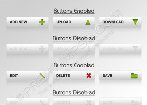 Functional Buttons Set Design – High Resolution – PSD Download