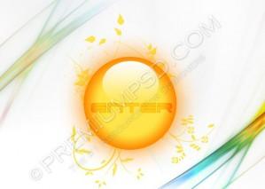 Glossy Enter Button Design – High Resolution – PSD Download