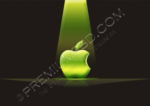 Green Light on Apple Logo Design – PSD Download