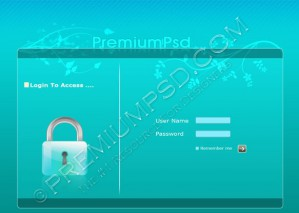 Login Page Design – High Resolution – PSD Download