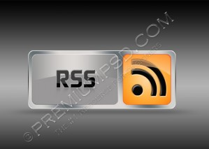 Metallic Glossy RSS Button Design – High Resolution – PSD Download