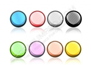 Round Glossy Buttons Design – High Resolution – PSD Download
