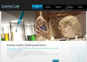 Science Lab Web Template Design – High Resolution – PSD Download