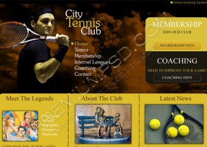Tennis Club Web Template Design – High Resolution – PSD Download